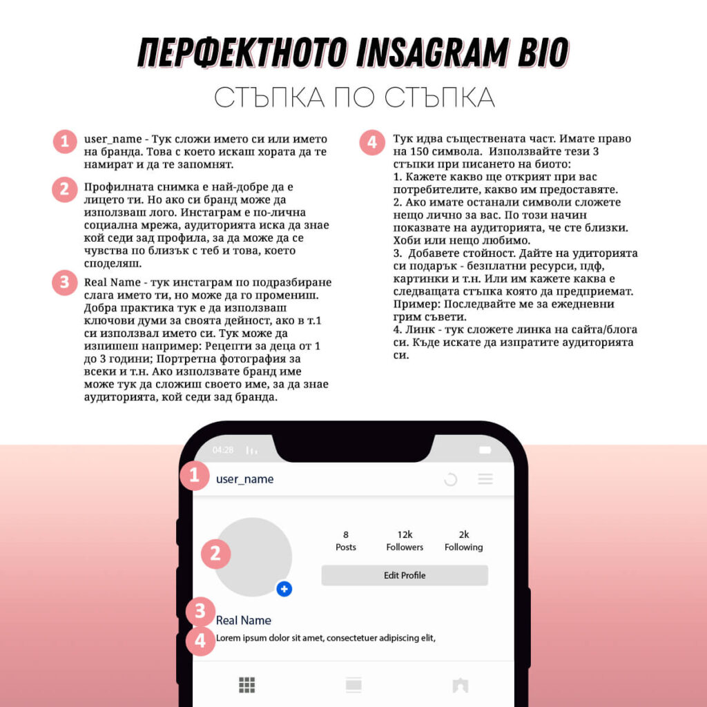 Перфектното Instagram bio